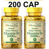 Ojo Vitamina D3 5000iu X 200 Softgels Cap Original