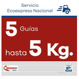 5 Guías Redpack Prepagadas, Ecoexpress 5 Kg $203.41 X Guía