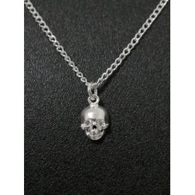 388e392dd368 Collar Con Dije Calavera Craneo Para Mujer Plata .925 Envio