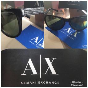 01071b0dfeb94 S Preto Unissex Oculos De Sol Armani Exchange Aviator Ax200 - Óculos ...