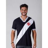 Camisa Retro Vasco Preta Braziline Tamanho M     Promoçao no Mercado ... cd05cd6bfe466