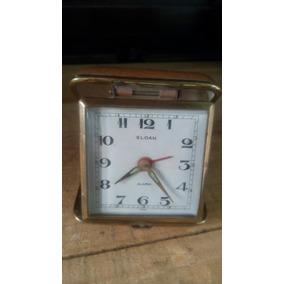 Reloj Despertador Antiguo Marca Sloan De Bolsillo Viajero