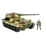 Tanque De Guerra Con Cañon Lanzamisiles Soldado Escala Gijoe
