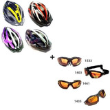Kit Gafa Intercamb + Casco Ventilado Bicicleta - A Eleccion