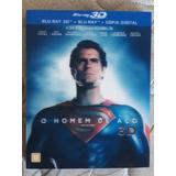 Blu Ray O Homem De Aço 3d
