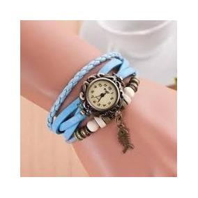 Relógios Feminino Pulseira Tipo Couro, Azul, Retrô, Vintage