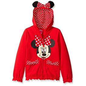 Sudadera Para Niña Con Orejas Roja Minnie Disney