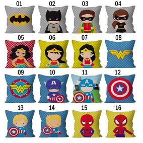 5 Capas De Almofadas Super Heróis Baby | Tamanho 30x30
