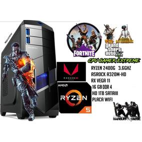 Cpu Gamer Ryzen 2400g,rx Vega 11,16gb De Ram ,hd De 1tb