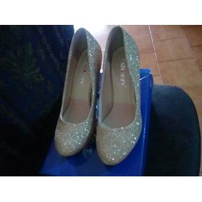 c3891b5b60f Zapato De Vestir Dama Tacon Dorados - Zapatos en Mercado Libre Venezuela