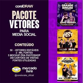 Pacote De Vetores / Flyer Para Midia Social // Corel Snake