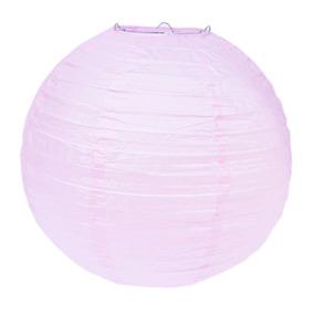 Pantalla Rosa Pastel 30 Cm Lampara China