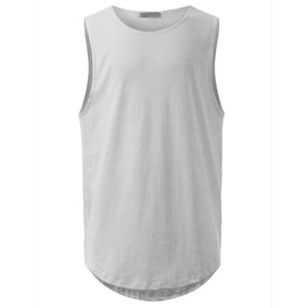 Regata Masculina Long Line Swag Camiseta Oversized Basica a41a3a43ab5