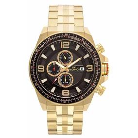 881345f7a72f2 Relogio Technos Skymaster Preto Dourado Esportivo - Relógios De ...