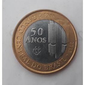 Novo1 Real - Moeda Comemoração De 50 Anos Do Banco Central