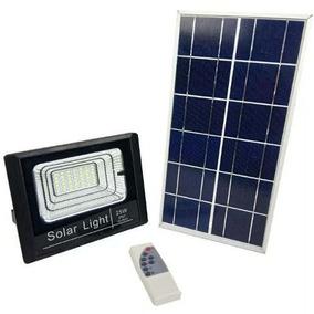 Refletor Led 25w Energia Solar Com Controle E Placa Completo