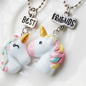 fa2f8f85bb0 Kit Colar Melhores Amigos Best Friends 2 Unicornios Bff