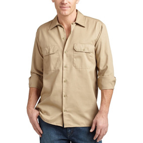 Camisa De Trabajo Manga Larga Para Hombre Uso Rudo