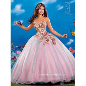 Elegante Vestido De Quinceañera Con Aplicaciones Bordadas