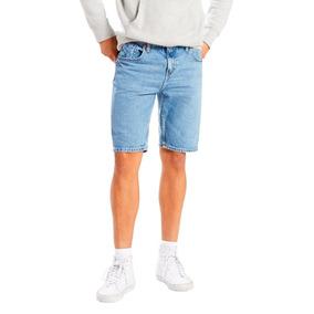 Bermuda Jeans Levis Masculina 511 Slim Hemmed Azul Médio