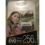 Memoria Sd Card 256 Samsung Evo Select Adaptador Incluido