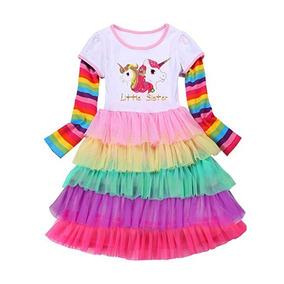 Vestido De Unicornio Para Niñas Talla 5-6 Marca Princesasa