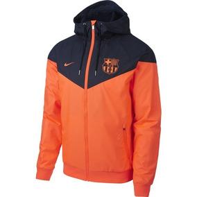 Jaqueta Nike Barcelona Laranja Corta Vento Lançamento d094c032efeb7