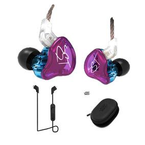 Fone Kz Zst In Ear Sem Mic + Módulo Bluetooth Kz + Case Kz
