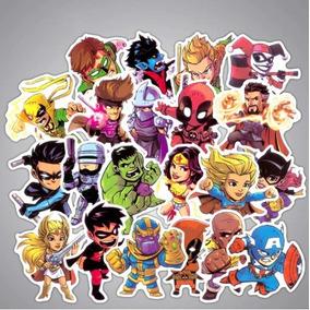 10 Adesivos De Super Heróis