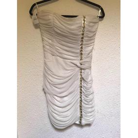 Vestido Bebe Para Dama Blanco Con Gemas Dorado Tenue Gucci