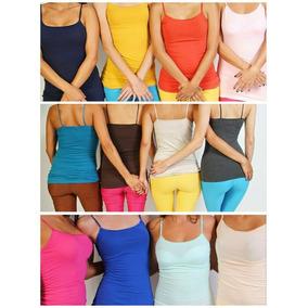 Lote De 25 Blusas Basicas De Tirantes De Mujer De Colores