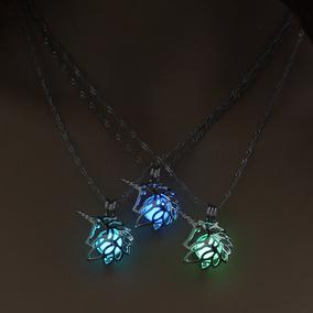 Collar Unicornio Brilla En La Oscuridad Luminoso Luz De Moda