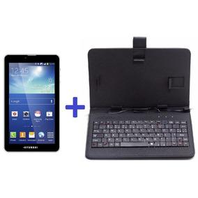 Tablet Hyundai Hdt-7427g 8gb 2 Chip Tela 7 + Capa Teclado