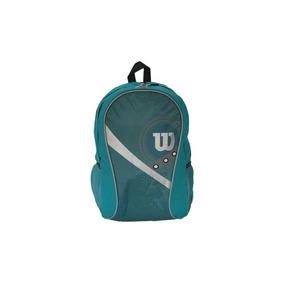 Mochila Escolar Wilson Azul E Cinza 45cm.
