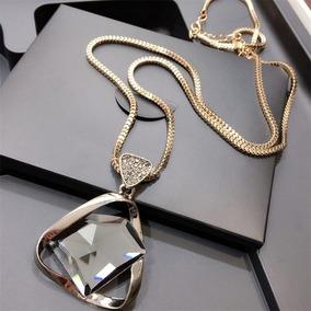Collar Moda Dama Joya Pendiente Diamante Cristal Para Mujer