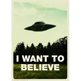 Poster X-files I Want To Believe Fans Serie 60 X 84 Cm