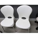 02 (duas Cadeiras) Branca Tramontina. Bem Novas,pouco Uso.