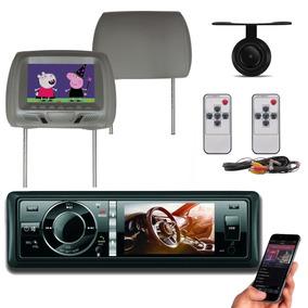 Dvd Player H Tech 3 Polegadas Usb Bluetooth + Encostos + Cam