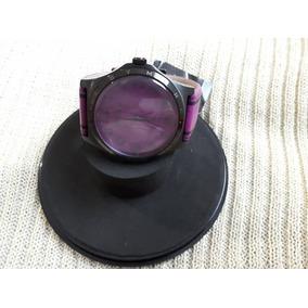 Relógio Original Marc Jacobs Henry Purple Couro Roxo E Preto