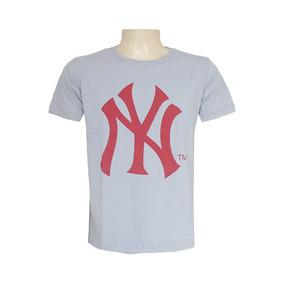 Camisa New York Yankees Confeccionada Em Algodão Penteado De