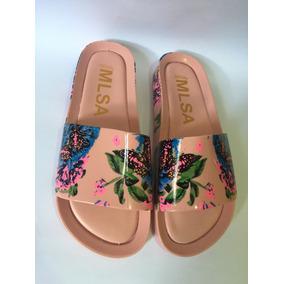 Melissa Beach Slide Floral Pink E Azul Novidade Promoção