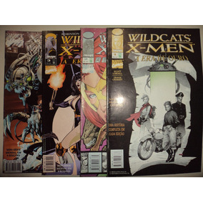Wildcats X Men 1 2 3 4 Completa Editora Abril 1998 Excelente
