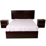 Juego De Dormitorio 2plazas+colchón Paraiso+cama+2veladores