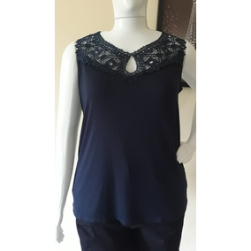 3908a4107 Blusa Feminina Regata Plus Size Tamanho Grande Decote Renda