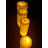 12 Velas Luz Led Ambar Aromáticas 11.5 Cm X 7.2 Cm