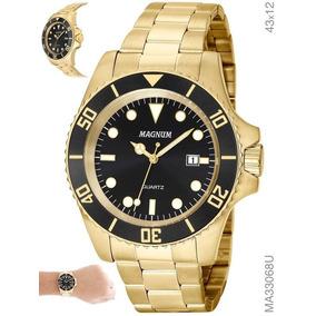 f0fb334368d Relogio Magnum Submariner Dial Preto De Luxo Masculino Rolex ...