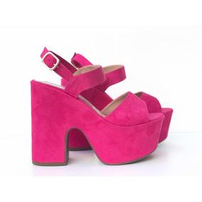 Sandália Plataforma Pink