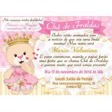 Convite Cha De Bebe Princesa Ursinha No Mercado Livre Brasil