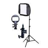 Kit P/ Foto Estudio Pie 190cm Rotula Softbox 40x40cm Visico