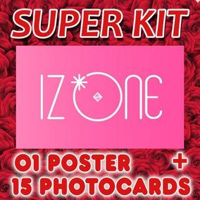 Kpop Iz*one Kit 15 Fotos + 1 Poster - Cards Izone Iz-one